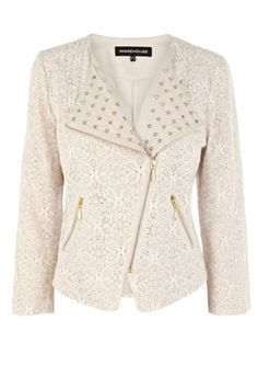 Lace Studded Biker,I could soooo rock this