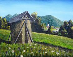 Kozolec - oil on canvas