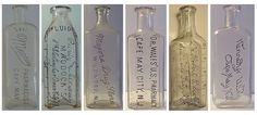 Idea of pharmacy bottles for centerpieces. since I'm studying to be a pharmacist Old Medicine Bottles, Bottles And Jars, Glass Bottles, Mason Jars, Apothecary Pharmacy, Antique Glassware, Type Posters, Rug Store, Cape