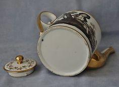 Paris-Locre-La-Courtille-Theiere-Porcelaine-Decor-Grisaille-Epoque-Empire-1800