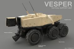 ArtStation - Tactical Support Vehicle, Billy Wimblett Military Armor, Military Gear, Military Vehicles, Futuristic Armour, Futuristic Cars, Armoured Personnel Carrier, Plane Design, Future Weapons, Spaceship Art