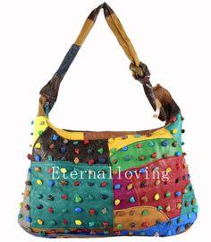 Fashion female bag Lady leather stitching bags Fashion female package  Colorful leisure female bag Everyday bag fashion handbags 6d13cb4018a31