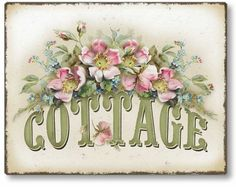 Item 1109 Vintage Style Rose Cottage Plaque