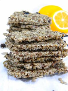 "Plain Flax-Sunflower-Sesame Crackers or Rosemary & Dried Currant Flax Crackers ""These crackers only take about 3 to 4 hours to dry, which is less than half the time of other recipes I've found on the web. Oh, and you can make them in your oven or dehydrator! """