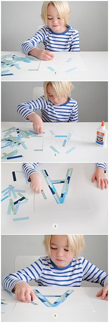 KIDS PAPER STRIP MONOGRAM