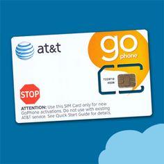 USA Prepaid 4G SIM-Karte von AT&T mit Guthaben
