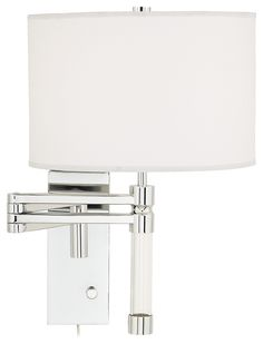 Possini Euro Chrome Plug-In Swing Arm Wall Lamp - contemporary - wall sconces - Euro Style Lighting