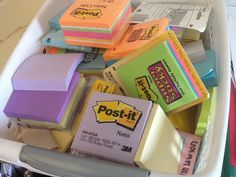 Using sticky notes for comprehension
