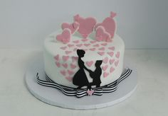 Engagement Cakes Designs are the design specially made for a cake to congratulate a couple who's engaged on their engagement day. Every couple must really want everything is perfect and special including the cake for their engagement day. Wedding Cake Decorations, Wedding Cake Designs, Wedding Cakes, Engagement Cake Design, Engagement Cakes, Valentines Day Wishes, Valentine Cake, Cake Sizes, Types Of Cakes