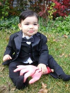 Gomez Addams and Thing from The Addams Family | 30 Best DIY Kids Halloween Costumes Your Mom Never Made For You