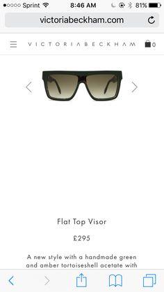 27c25d3e8aac Victoria Beckham flat top visor sunglasses