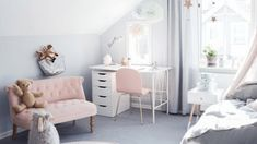 15 simple and beautiful kids' bedrooms that minimalist mamas will love Kids Bedroom, Kids Rooms, Minimalist Bedroom, Beautiful Children, Office Desk, Simple, Bedrooms, House, Interiors