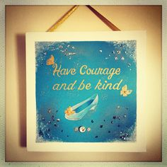 Cinderella Name Canvas, Canvas Artwork, Wedding Canvas, Have Courage And Be Kind, Happy Day, Cinderella, Abstract, My Love, Painting