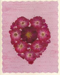 Pressed Flower Greeting Card  Real Pressed by SmileWithFlower, $5.50