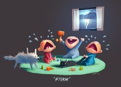 """""""Storm""""  by Charles Santoso (that happy baby is totally Stormageddon :-)"""
