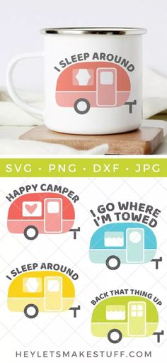 Vintage Camper SVG Bundle It's time to get your camp on! This Vintage Camper SVG Bundle is full of sassy camper 'tude, perfect for all your camper gear, decor, and accessories. Hitch up the trailer—the open road is waiting for you! Living Vintage, Vintage Rv, Vintage Trailers, Vintage Campers, Vintage Caravans, Vintage Travel, Retro Camping, Camping Car, Camping Hacks