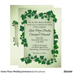 Green Vines Wedding