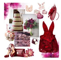 """Vineyard Wedding Guest"" by metropulse ❤ liked on Polyvore featuring Marchesa, Christian Louboutin, Arabel Lebrusan, Gucci, Phase Eight, Brumani and WALL"