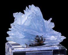 Blue Baryte specimen from Morocco