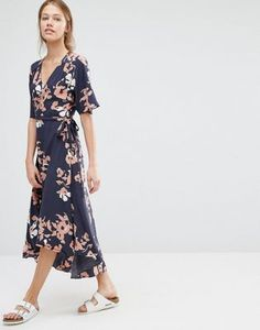 Just Female Floral Wrap Dress