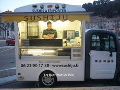 SUSHIJU - Food Truck - Orange www.vsveicolispeciali.com. #streetfood #foodtruck #specialdesign