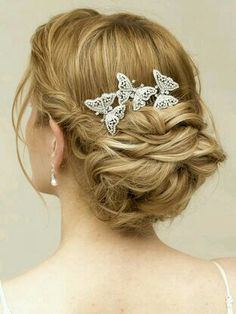Updo curly hairstyle for wedding..