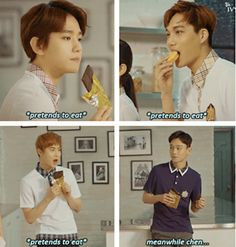[EXO meme] Food CF | I will be definitely Chen. | Just meme, laugh and don't take it seriously.