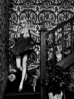 Siri Tollerod in Vogue Italia May 2008 by Miles Aldridge
