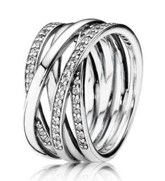 Authentic 925 Sterling Silver Pandora Ring Openwork Eternity Entwined Crystal Rings For Women Wedding Party Gift Fine Jewelry Diamond Solitaire Necklace, Round Diamond Engagement Rings, Diamond Studs, Ring Designs, Silver Rings Online, Bridal Ring Sets, Silver Necklaces, Silver Bangles, Artists
