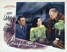Peter Lorre, Hedy Lamarr, and Sydney Greenstreet in The Conspirators (1944)