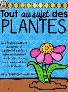 Apprenons tout au sujet des plantes (FRENCH Let's learn all about plants). French worksheets and activities to supplement your science curriculum