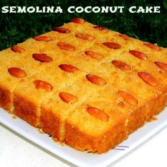 Semolina Coconut Cake (Egg Less) Recipe - Learn how to make Semolina Coconut Cake (Egg Less), Recipe by Namita Tiwari