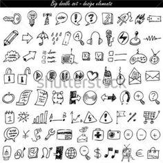 Doodle Icon Set Web & Internet stock vector - Clipart.me