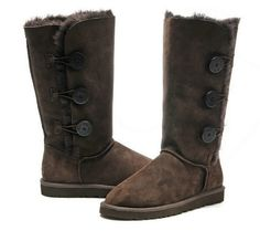Brown Bailey Button Ugg boots