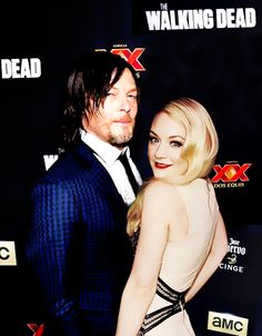 Norman Reedus and Emily Kinney my 2 favorite characters from The Walking Dead :) Daryl and Beth!