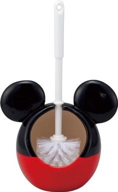 Disney toilet brush holder (with a brush) Mickey Mouse (japan import) Disney Mickey Mouse Bathroom, Mickey Mouse House, Mickey Mouse Kitchen, Mickey Bad, Mickey Minnie Mouse, Cozinha Do Mickey Mouse, Mickey Decorations, Disney Furniture, Disney Rooms