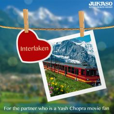 Is your partner a Yash Chopra fan? Take him/her to Interlaken and relive those scenes from your favorite movie this Valentine's Day. #ValentinesWithJukaso