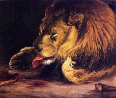 Lion Licking Its Paw, Henry Ossawa Tanner