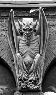 , fartou-se, very famous out of The Notre Dame Cathedral in Paris, France. Gothic Gargoyles, Notre Dame Gargoyles, Art Du Monde, Ange Demon, Arte Obscura, Arte Horror, Angels And Demons, Gothic Architecture, Gremlins