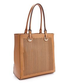Another great find on #zulily! Tan Perforated Tote #zulilyfinds