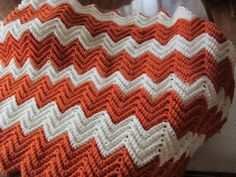 Baby ripple afghan by LilyLousCrochet on Etsy, $25.00