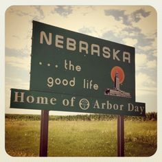 Entering Nebraska...I know I am getting closer to home when I see this sign & honk the horn when going over the state line :)