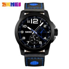Check it on our site Men Watches SKMEI Luxury Brand Men's Fashion Casual Sport Watches Men Waterproof Leather Quartz Watch Man military Clock Watch just only $13.96 with free shipping worldwide  #menwatches Plese click on picture to see our special price for you