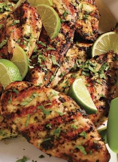 Low FODMAP Recipe and Gluten Free Recipe - Marinated chicken breast with lime, cilantro, ginger and chili http://www.ibssano.com/low_fodmap_recipe_chicken_lime_cilantro_ginger_chili.html