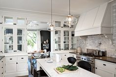 Turn of the Century Modern by Jessica Helgerson Interior Design :: This kitchen is wonderful. The rest of the house is a little to sterile for my taste.