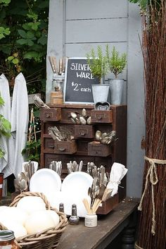 I want my Little White Greenhouse business to look like this--eclectic and homey
