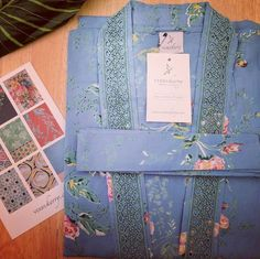 Floral & fabulous  our porcelain rose organic cotton kimono is back in stock  pretty as can be.  #floral #kimono #organic #cotton #organiccotton #loungewear #sustainableclothing #sustainableliving #blue #vintage #wedding #bride #bridetobe #bridesmaids #bridalparty #englishrose #verrykerry