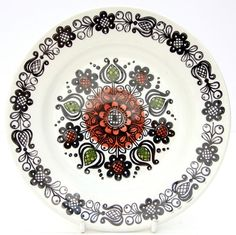 Vintage Retro 1970s Broadhurst Kathie Winkle Romany Side Tea Plate