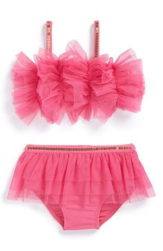 Mud+Pie+Mesh+Ruffle+Bikini+(Baby+Girls)+available+at+#Nordstrom