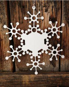 Jingle Bells Metal Snowflake Ornament